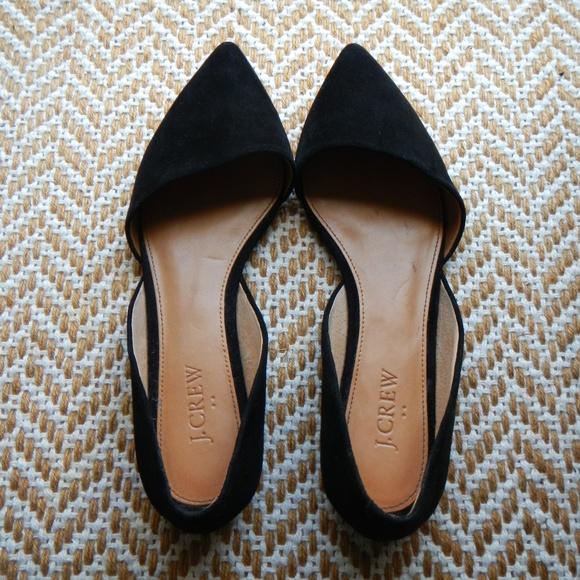 Zoe Dorsay Pointed Toe Suede Flats